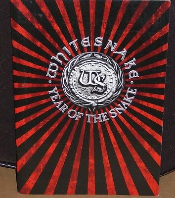 WHITESNAKE Year Of The Snake tour book concert souvenir program David Coverdale