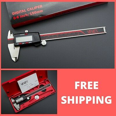 VINCA DCLA-0605 Quality Electronic Digital Vernier Caliper Inch/Metric/Fractions