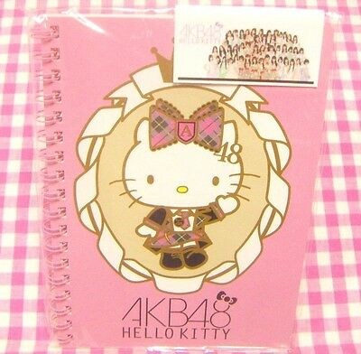 AKB48 Sanrio Hello Kitty B6 Ring Notebook / Made in Japan Stationery Pink