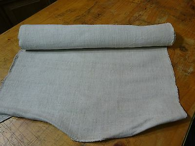 A Homespun Linen Hemp/Flax Yardage 4 Yards x 20'' Plain  # 8337