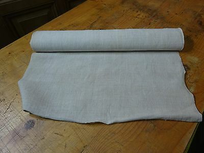 A Homespun Linen Hemp/Flax Yardage 5.5 Yards x 21'' Plain  # 8343