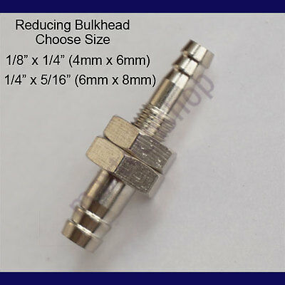 Brass Bulkhead Fitting Hose Barb Pipe Tube Connector Reducing Splicer Fuel Line