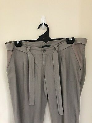 Pre-loved Ladies sz14 Neat Stone Maternity Pants by Patch with Adjustable Waist