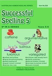 Successful Spelling 5 (Australian Homeschooling Series)