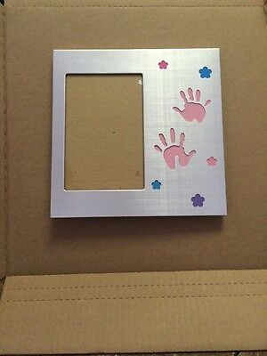 Connoisseur Baby Girl Handprint Picture Frame 4 X 6