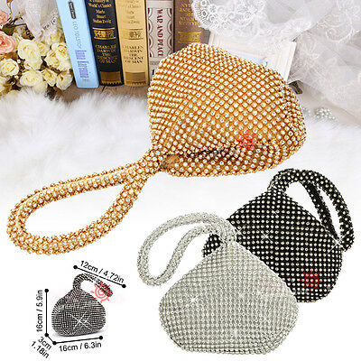 Wedding Evening Women Soft Crystal Cocktail Party Prom Bag Purse Clutch Handbag