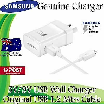 NEW GENUINE SAMSUNG 9V ADAPTIVE FAST AC Wall Charger For S7 S6 Edge + Note 4 5