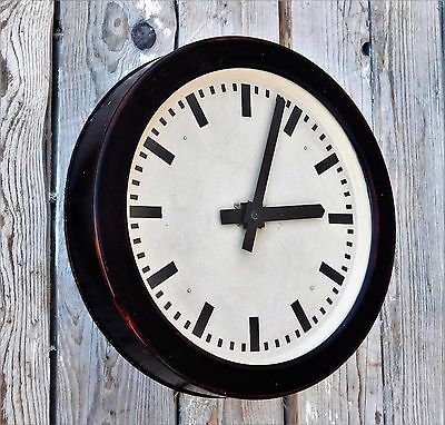 ORIGINAL 40s 50s German RAILROAD INDUSTRIAL FACTORY OR STATION CLOCK, R28