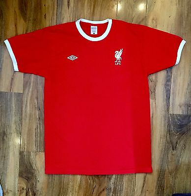 ⚽️ Liverpool Retro 1975 1976 Repro Home Football Shirt Mens Size L