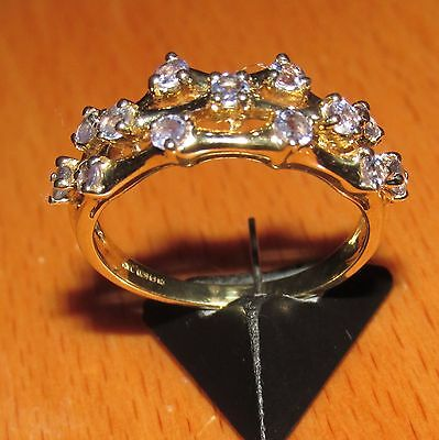 BEAUTIFUL SECONDHAND QVC 9ct YELLOW GOLD  SAPPHIRE BAND SIZE P