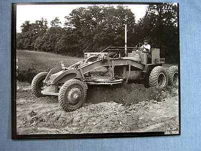 Galion OH Iron Works Road Grader Photograph 1936