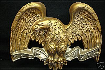 EAGLE PIRCHED ON RIBBON WALL PLAQUE AOH Studio