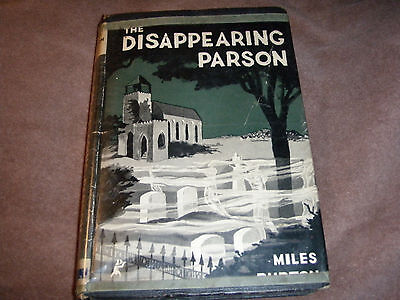 "RARE Stated 1st edition "" The Disappearing Parson "" by Miles Burton 1949 w/jacke"