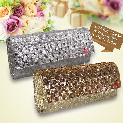 UK Wedding Women Clutch Diamante Prom Party Bridal Evening Shoulder Bag Handbag