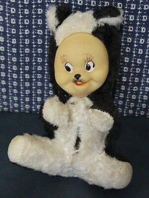 Antique Stuffed Skunk Made In Japan
