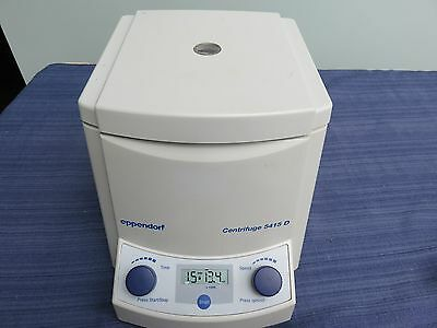 Eppendorf 5415D Micro Table Top Centrifuge 24-Place 13200 RPM lid malfunction