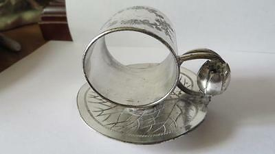 Victorian Silver Plated Napkin Ring Lilly Pad Lotus B Company, Meriden #168  #12