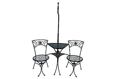 Vintage Salterini Garden Table Tete a Tete Wrought Iron Garden 2 Two Seat Garden