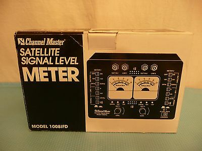 Channel Master Model #1008IFD Satellite Signal Level Meter VINTAGE OEM