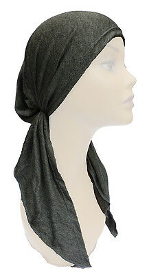 Soft Stretchy, Pre-Tied, Fitted,  Head Cover, Chemo Scarf, Head Wrap,Turban, Hat