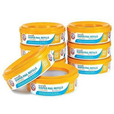 Munchkin Arm And Hammer Diaper Pail Refill Rings, 2,176 Count, NEW - No Box R1