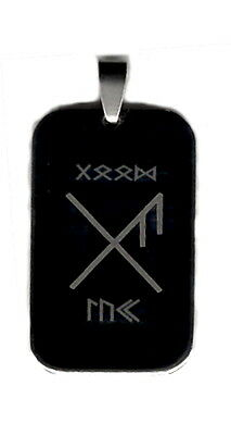 Viking Bind Rune - Good Luck - Stainless Steel Necklace Unique - Free Post