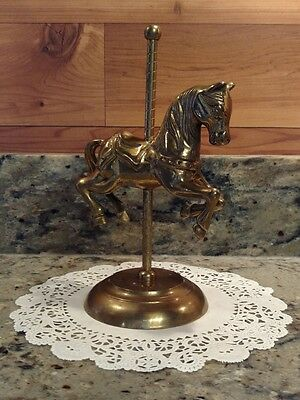 """Vintage 8"""" Solid Brass Carousel Horse"""