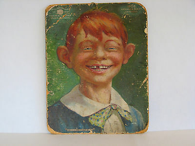"""The Kid"" Alfred E Newman 1908 origin Antikamnia Tablets La Grippe 10"" X 71/2"""