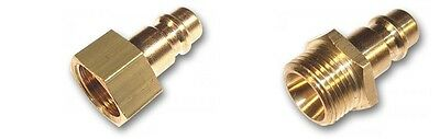Air Line Fitting Connectors Male Female Quick Coupler Compressor Air Brass
