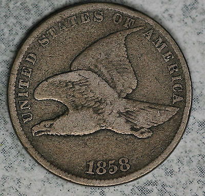 Nice 1858 Flying Eagle Cent!!