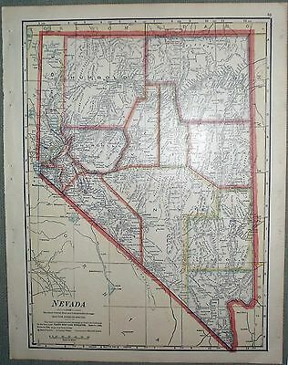 1911 CRAM map of NEVADA from Ideal Reference Atlas of the World