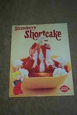 Vintage Dairy Queen Poster Dennis The Menace And Shortcake