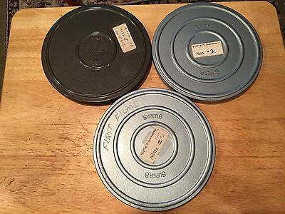 """3 Super 8 Home Movies Come In 7""""Canisters"""