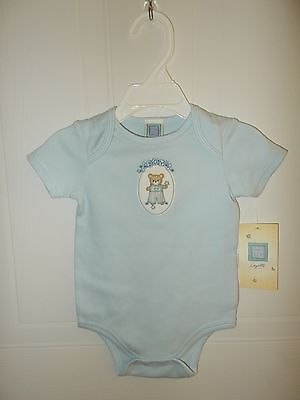 Blue Romper with Bear BOY NWT Little Me size 6 months