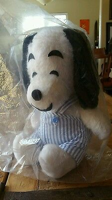 "Vintage Snoopy Stuffed Plush Doll 10"" TRUDY TOYS *RARE* Peanuts Gang"