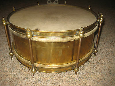 Antique Military/Marching Brass Snare Drum Circa 1900