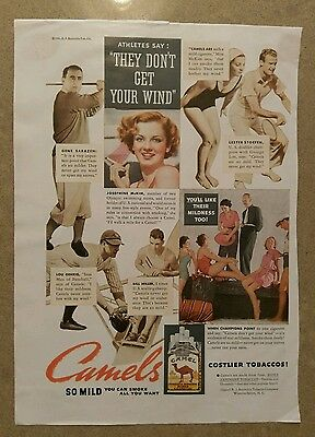 1935 Camel Cigarettes Ad - With Lou Gehrig