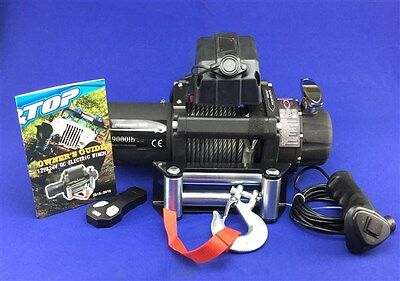 12V 9500lb Electric Winch 9mm X 15m Steel Cable