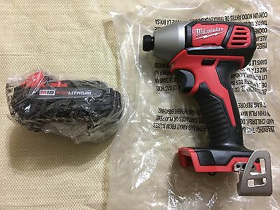 Brand New Milwaukee 18V 2656-201/4 Hex Impact Driver & 1 M18 48-11-1815 Battery