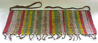 Large Old Kirdi Multicolored Glass Beaded Panel Apron Cache Sexe Cameroon