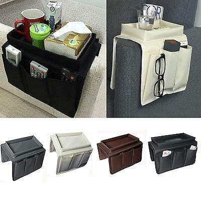 3 Pocket Couch Buddy Remote Control Holder Sofa Arm Rest Organizer Caddy Bag
