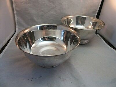 Pair vtg silver plate bowls. Gorham YC779 and Reed, & Barton 1120