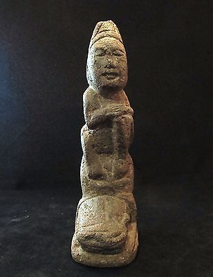 Ancient Pre-Columbian Mayan Carved Stone Phallic Idol  ~ Private collection!