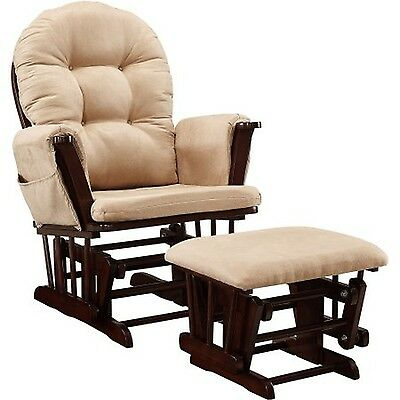 Baby Relax Harbour Glider Rocker and Ottoman Set Beige