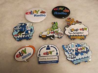 Ebayana eBay Pin Lot 8 Pins