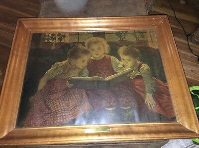 """Vintage Walther Firle """"Fairy Tale"""" 18""""x 24"""" Print With Original Frame."""