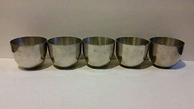 5 VINTAGE JEFFERSON CUP KIRK PEWTER CUPS by HANLE 223