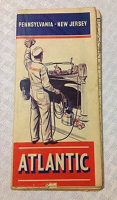 Vintage ATLANTIC gas & oil travel map