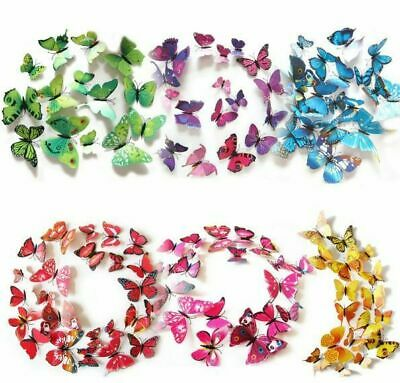 3D BUTTERFLY WALL STICKERS: Removable Decals Kids Nursery Wedding Decor Art