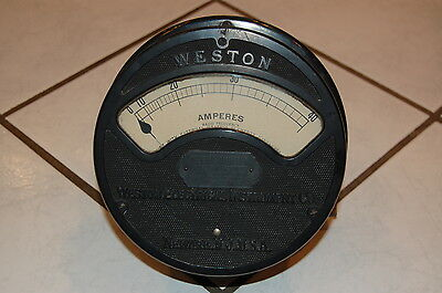 Vintage Antique Weston Amp Meter Thermo Ammeter Model 400 Industrial Steampunk